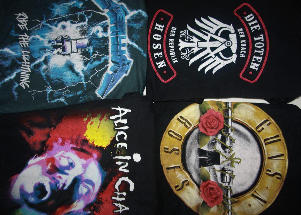 Bandshirts, Guns N'Roses, Die Toten Hosen, Metallica, Alice in Chains